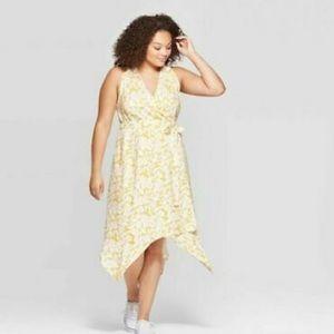 BNWout tag Ava & Viv sz 4x Floral Vneck Wrap Dress